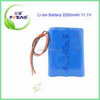 lithium ion battery 18650 12v 2200mah with customized design