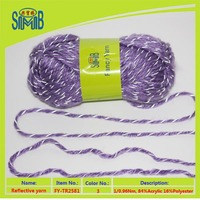 Oeko-Tex top sales acrylic reflective knitting yarn from manufacture in china wholesale reflective hand knitting yarn