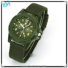 Fashion design women and mens wrist watches nylon band watch with chinese movt