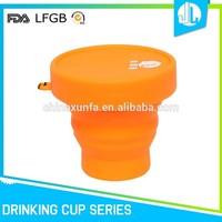 Silicone products FDA grade foldable coffe travel mug
