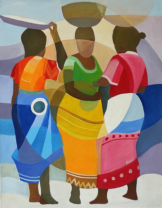 Étnico pinturas