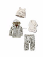 2015 Baby Kids 4 Piece Clothing Sets Autumn New Brand Long Sleeve Top Quality Wholesale Children Winter Clothes Kids Wear Baby