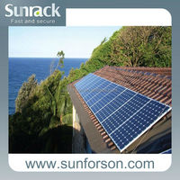 Adaptable solar panel mounting bracket on roof tiles