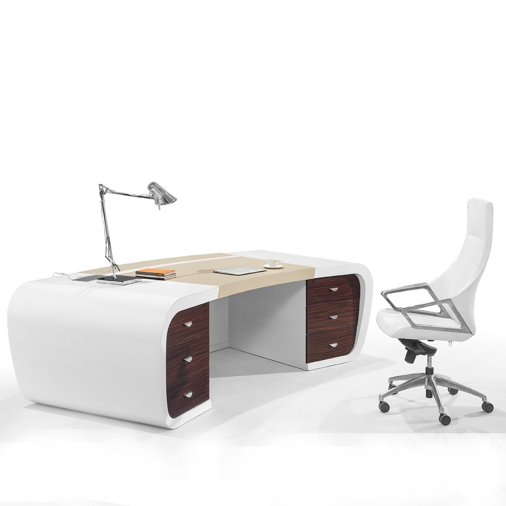 Latest model wood veneer executive table mdf office table for Muebles de mdf