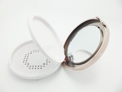 cosmetic mirror wholesales small round plastic folding mirror for makeup and promotion with OEM/ODM image
