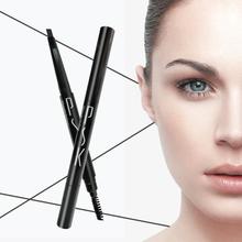 P5104 Unique Triangular Waterproof Black Eyebrow Pencil With Brush