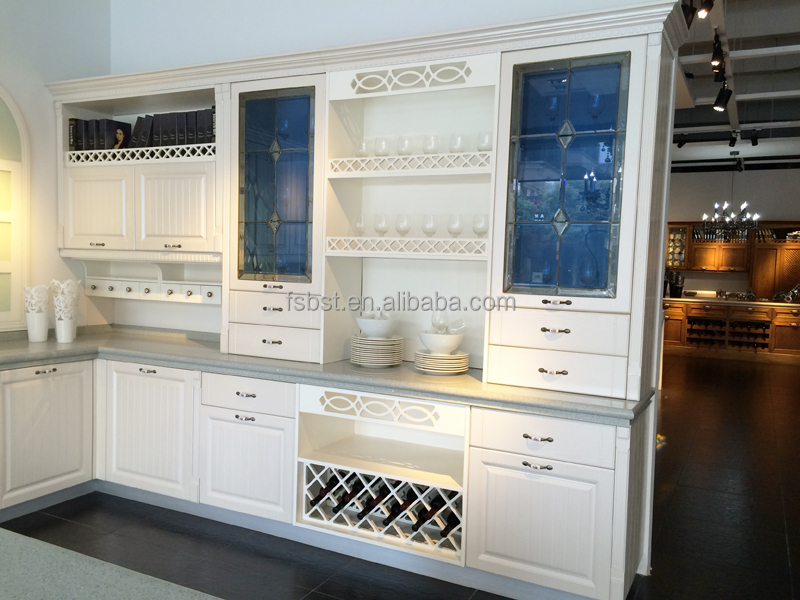 Germany pvc cuisine showroom used kitchen cabinets for Kitchen cabinets craigslist