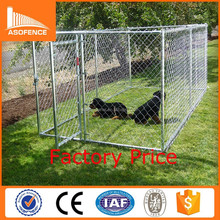 US and Canada standard size cheap chain link dog kennels with top cover