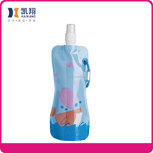 330ML plastic water drinking collapsible water bottles