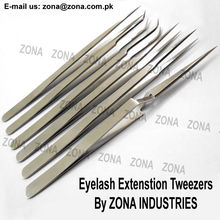 Long & Narrow Eyelash Extension Tweezers / Stainless Steel Cosmetic Tweezers / Get Lash Tweezers Under Your Brand Name