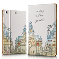 New design painting series smart wake-up flip leather cover case for ipad pro
