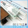 ZHONGYING spot supply 8 types windows and doors pvc profile