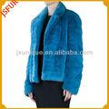 diseño de marca al por mayor azul de invierno de piel de visón abrigos de piel de abrigo para las mujeres