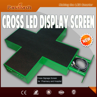PanaTorch Factory Price LED Pharmacy Cross Display Module IP65 Waterproof P10RG advertising product By wireless control