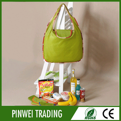 Nylon polyester foldable shopping bag ,custom recycled shopping bag personalized wholesale