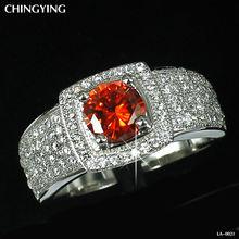 Nobre 925 rubi prata esterlina& pedras preciosas branco topázio anel tamanho 5-9