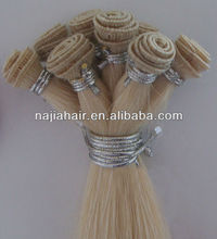 5A no shedding hard tied hair weft factory price