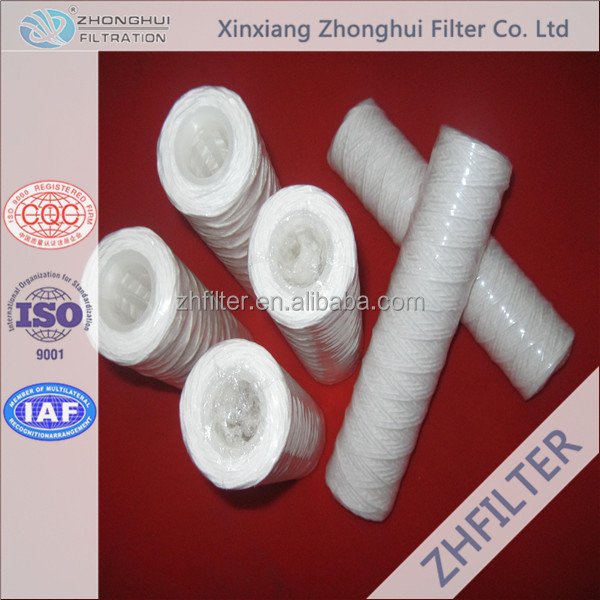 40 Inch String Wound Water Filter Cartridge For Water Treatment