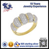 Fashion jewelry 925 sterling silver gold plated rings