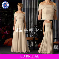 BY1157 Detachable Off The Shoulder Wrap Mother of The Bride Dress