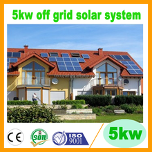 5kw off grid solar power system price from professional factory