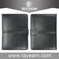 Good quality hot sale black leather case for tablet laptop