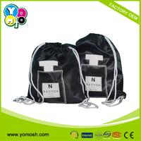 2015 Promotional shopping satin drawstring bag , promotional satin drawstring bag, satin backpack bag