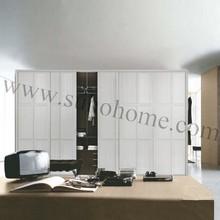 Simple Style Wardrobe Sliding Door,white cheap closet
