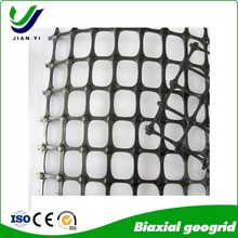 Anti-aging pp biaxial geogrid earthing material