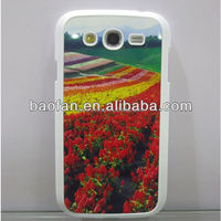 Sublimation hard PC phone case for samsung grand with metal insert