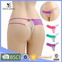 New Custom Pretty Cute Girl Transparent String Thong Panties