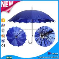 OEM Solid Color custom chinese Handl umbrella printing gift Double Layer big Straight umbrella