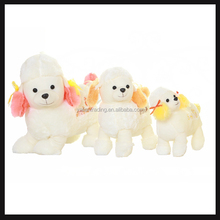 factory made stuffed toy white dog poodle dog toy for sale
