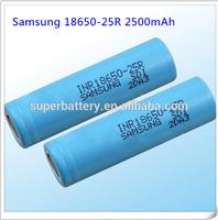 Original samsung icr 18650-25r battery 2500mah rechargeable battery 18650 battery cells
