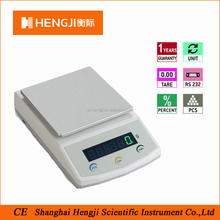 LED Digital Laboratory Electronic Weighing Balance with Accuracy 1g /2000g RS232C