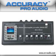 4 canales de tipo pequeño mezclador de sonido con MP3 PM-60A-MP3