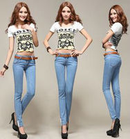NEW ARRIVAL JEANS FOR WOMEN, LADY'S LONG SLIM JEANS
