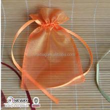2015 China Price Quality Custom Organza Pouch/Organza Promotional Bag/Ribbon Drawstring Organza Bags