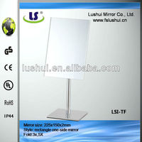fancy table standing make up plastic framed wall mirrors
