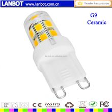 High quality LED CERAMIC G4 G9 BA15D E10 E12 E14 1.5w 3w 3.5w 4w 4.5w 5w led G9 Bulb with AC 220v 110v AC12V
