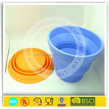 Bsci approved factories new products silicone rubber folding bucket