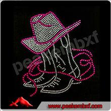 Beautiful rhinestone cowboy hat and boot transfer design