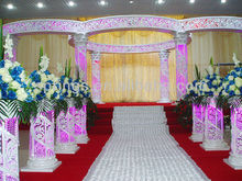 Anaglyph water pagoda in India/all kinds of wedding guide/wedding crystal column