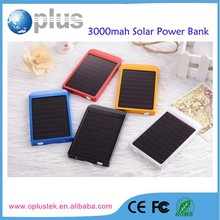 Cute solar power bank charger with 3000mah capacity