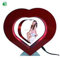 Two sides heart shaped magnetic levitation photo popular frame laughing sweet gift