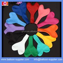 High quality natural latex heart plain balloon colorful heart plain balloon