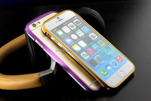 Deluxe Luxury Dual Color Aluminum Metal Hard Bumper Frame Case for iPhone 6 4.7