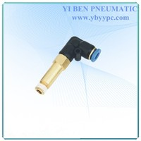 Quick connecting plastic tube eblow pipe qiuck union fitting