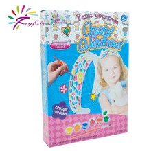 2015 new design DIY toy set coloring your own crystal plastic headband for kids