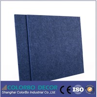 Hot sale soundproof treatment 3d wall panels polyester acoustical panel